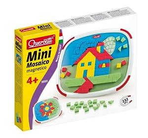 Quercetti 13/5033 - Mini Mosaico magnético, Modelo Gato y Pato