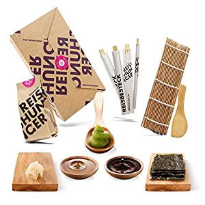 Reishunger Sushi Box - Orignal Japanische Zutaten bester Qualität - Für bis zu 4 Personen - Perfekt auch als Geschenk