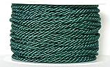 KORDEL 25m x 3mm GRÜN Drehkordel KORDELBAND Dekoband Schnur