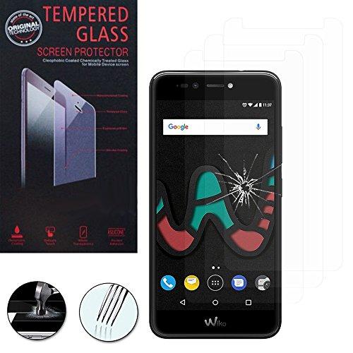 VComp-Shop® 3x Hochwertige gehärtete Panzerglasfolie für Wiko UPulse Lite 4G 5.2