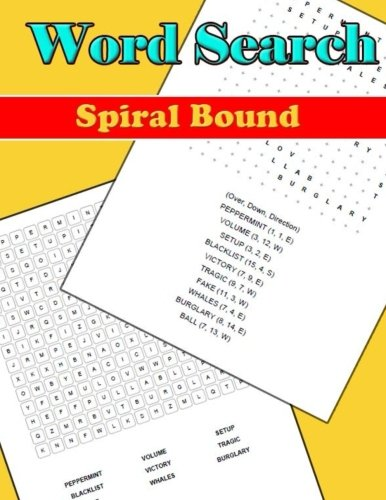 Wordsearch Spiral Bound: Large Print Word-Finds Puzzle Book-Word Search ,Hours of  Brain-boosting entertainment for adults and kids por Charlesta Tiwimsun
