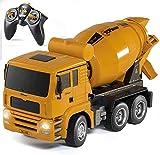 Top Race RC Control Remoto Mezclador de Cemento, Vehículos de construcción Camión Coche de Juguete para niños, niños y niñas de 3,4,5 años TR-120