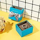 Sweetiee Damen Schmuck Eheringe 1 Paare Verstellbar Geschenketui Partnerringe Freundschaftsringe