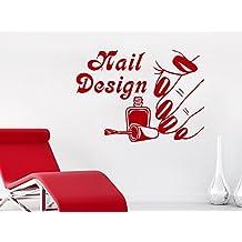 decorrooms salón de belleza uñas diseño de uñas rojo lacado mano vinilo adhesivo para dormitorio decoración para el hogar