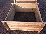 stabiler Holzkomposter Komposter Kompostbehälter Hochbeet 120 x 120 x 53 cm
