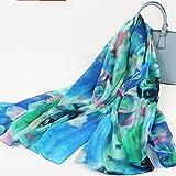 MEIDUO Seidenschal 100% Seide Weibliche Frühling und Herbst Seidenschal Herbst und Winter Schal Strand Schal Dual Use (Farbe : #6)