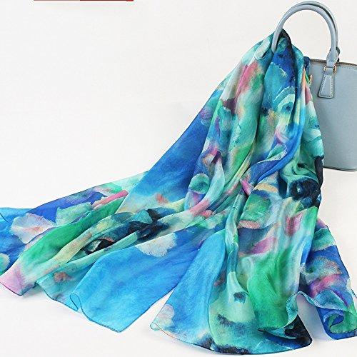 MEIDUO Seidenschal 100% Seide Weibliche Frühling und Herbst Seidenschal Herbst und Winter Schal Strand Schal Dual Use (Farbe : #6) - Tragen, Seide Schals