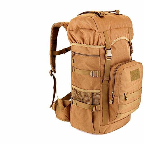 Bergsteigen Taschen für Männer und Frauen Umhängetaschen reisen Rucksack große Kapazität 55 L Reisen outdoor Taschen Computer Pack Rucksack 35 * 24 * 60 cm, CP Camouflage Khaki Farbe