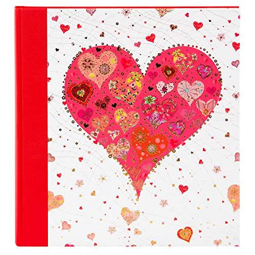 Goldbuch Hochzeitsalbum, Big Heart Red, 30 x 31 cm, 60 weiße Seiten mit Pergamin-Trennblättern, Leinen mit Kunstrduckpapier mit Goldprägung und Relief, Perlmutt, 08412