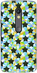 The Racoon Lean printed designer hard back mobile phone case cover for Motorola Moto X Play. (Colour Geo)
