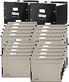 Leitz 60460095 Archiv-Hängebox Click und Store, Graukarton, schwarz (2 Boxen + 20 Hängetaschen grau)