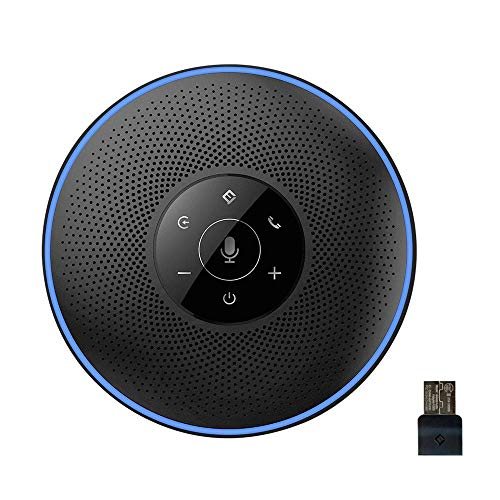 Bluetooth Freisprecheinrichtung, Konferenztelefon eMeet M2 Wireless Konferenzlautsprecher 8M Weitfeld Konferenzmikrofon für Skype, VoIP-Kommunikation mit dem Smartphone, Laptop oder PC Plug-and-Play