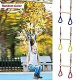 JoyFan Verstellbare Gymnastikringe für Kinder, Klettergerüst und Schaukeln, Kinder-Trapezstange mit roten Turnringen für Klettergerüst