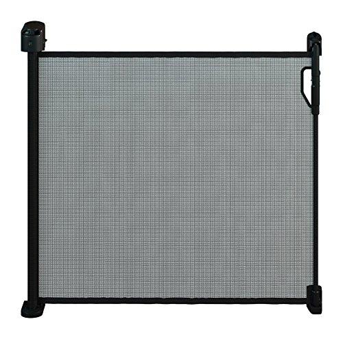 Gaterol Active Pro Schwarz - Schickes ausziehbares Treppenschutzgitter und Türschutzgitter Rollo mit Quick Pass und Verschlussautomatik bis 120cm