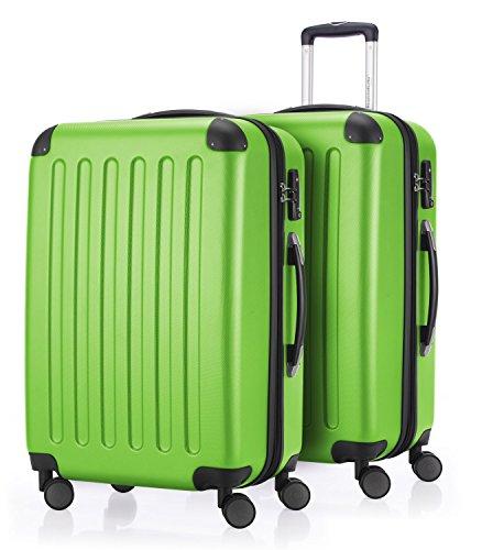 HAUPTSTADTKOFFER - Spree - 2er Koffer-Set Hartschale matt, TSA, 65 cm, 82 Liter, Dunkelblau Apfelgrün