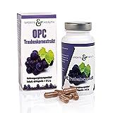 OPC Kapseln Hochdosiert - Mit Zertifikat - OHNE Künstliches Vitamin C - 500mg Traubenkernextrakt - 350mg Reines OPC Pro Vegane Kapsel - 2 Monatsvorrat - Made in Germany
