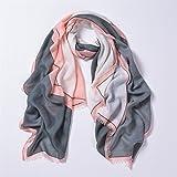 Coprispalle per donna Sciarpe estive Sfumato Colore Lunghe leggerezza Combattere sciarpe Sciarpe Primavera ed Estate ( Color : 1 )