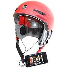 KOKKIA H10Black (cavo) Sport per casco da moto/Cuffia Nero (Stereo), Super Bass e–può Volume an iPod/iPhone/iPads/MP3/CD/ricevitore Bluetooth dispositivi con 3,5mm presa Audio. Per il normale come anche casco draufgängerischen vincitore tipo, estremamente sportivi, sciatore, Snowboarder ecc.