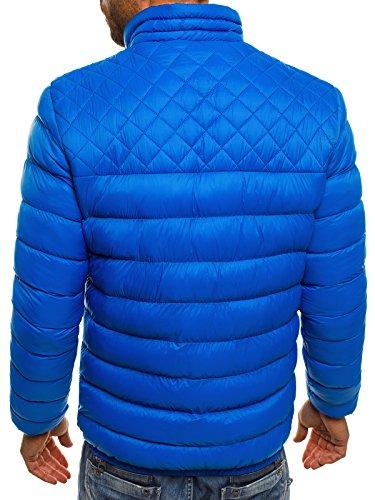 OZONEE Herren Winterjacke Steppjacke Sweatjacke Wärmejacke Jacke Parka Gesteppt J.BOYZ X1008K Blau_JS-515_KU