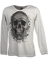 Rivaldi black - Merzu gris ml tee - Tee shirt manches longues