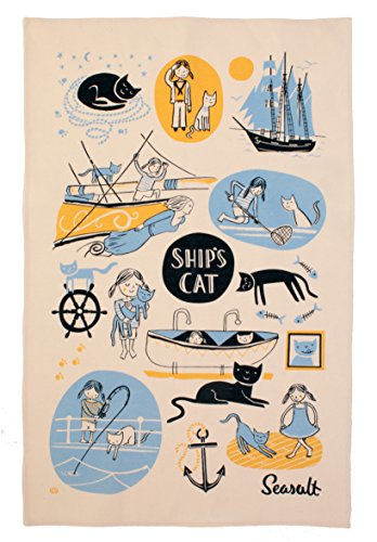Ulster Weavers Seasalt navires et Chat First Mate Coton Torchon