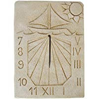 CATART Reloj DE Sol EN Piedra Pared Exterior Tempus FUGIT 35X48cm.