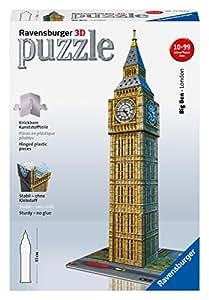 Ravensburger 12554 - Big Ben - 216 Teile 3D Puzzle-Bauwerke