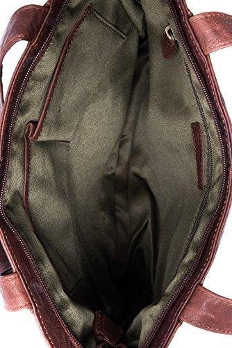 LEABAGS Chiba borsa da donna vintage in vera pelle di bufalo - Bole Bole