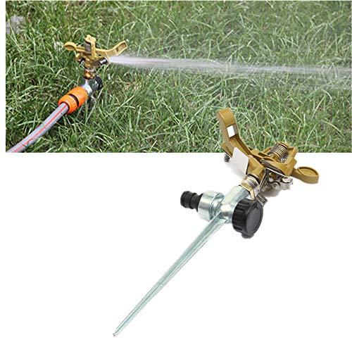 Tensay Metal Impact Sprinkler Köpfe auf Spikes Metal Lawn Sprinkler Pulsierende Sprinkler, Family Courtyard Botanical Garden Rasensprinkler -