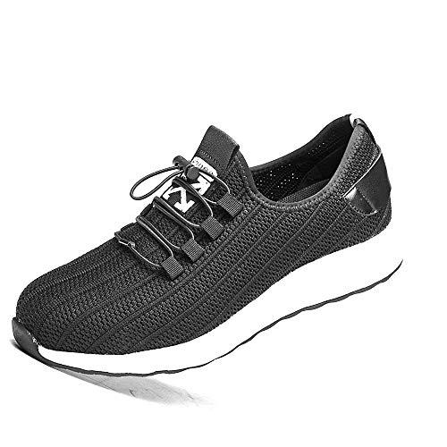 andale Arbeitsschuhe Männer Frauen Sommer Sicherheit Trainer Toe Capped Penetration Resistant Sport Sneakers,Black,43EU ()
