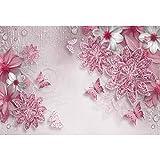 Cassisy 1,5x1m Vinyle Printemps Toile de Fond Photo Rendu 3D Fond d'écran de Fleurs...