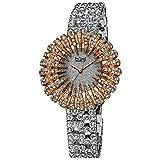 Bürgi Reloj de Cuarzo Woman Dazzling Crystal Plateado 41 mm