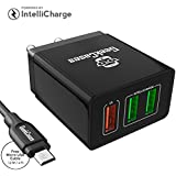 [Sponsored]GeekCases 3 USB ZipCube+ 3.4A Universal Wall Charger Adapter With Micro USB Cable (Black)