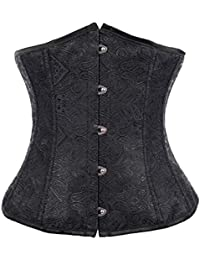 ZAMME mujer's Ate para arriba Underbust Cors¨¦ Top Steampunk Cors¨¦s and Bustiers Lencer¨ªa
