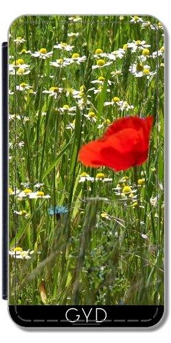 Coque pour Iphone SE - Fleur Rouge by Marina Kuchenbecker Simili-Cuir
