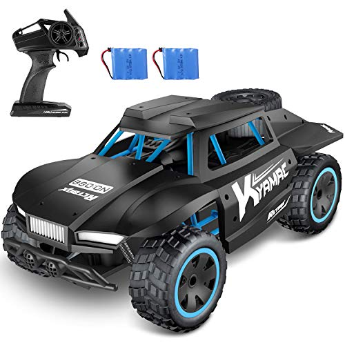 POSIVEEK Ferngesteuertes Auto,2019 High Speed RC Auto,1:18 2WD 2.4 Ghz Radio Control Off Road Buggy mit 2 wiederaufladbaren Akku.Auto Spielzeug für Kinder Jungen Mädchen Kindergeschenk