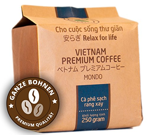 VietBeans Hello5 Mondo 250g – Premium Kaffeebohnen aus organischem Anbau – Vietnamesischer...