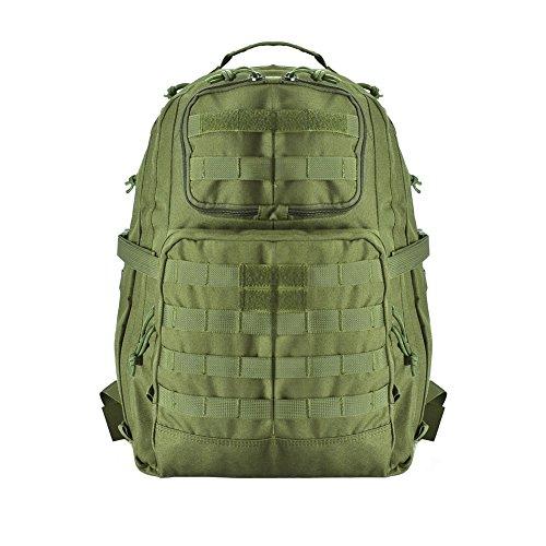 Imagen de yakeda® paquete senderismo bolsa de deporte al aire libre del paquete de campamento camuflaje impermeable camping senderismo trekking bolsa exterior  militares escalada   a88033 green