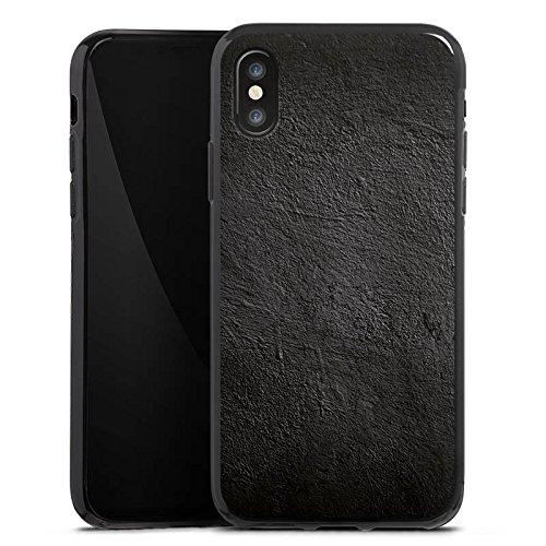Apple iPhone X Silikon Hülle Case Schutzhülle Beton Wand Struktur Silikon Case schwarz