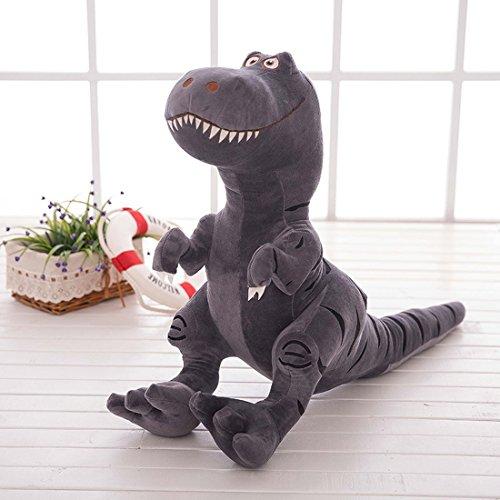 Niños azul dinosaurio de peluche de felpa muñeca Longitud 30cm, altura 28cm, Ultra suave niños niñas dinosaurio cojín juguete, regalo para el bebé/niños/adolescentes, Grey Dinosaur, 40*50cm