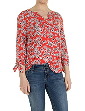 TOM TAILOR Lovely Blouse with Bow Detail, Blusa para Mujer