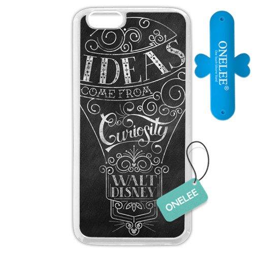 onelee Maßgeschneiderte Disney Serie Tasche für iPhone 611,9cm Walt Disney Zitat iPhone 611,9cm Fall, nur passend für Apple iPhone 611,9cm (weiß Weiches Gummi) (Fall 6 Walt Phone I Disney)