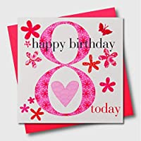 Claire Giles AGE08G Ages Age 8 Girl Birthday Card
