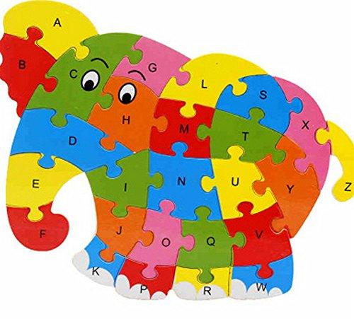 qinlee conjuntos de niños Puzzle de madera infantil Puzzle Cabello RBT Animales...