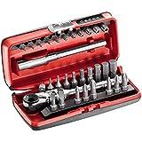 """USAG 606 1/4 SK - Assortimento con cricchetto 1/4"""" ed inserti (31 pz) 06060012"""