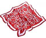 Avenella: ideales Valentinsgeschenk: romantisches NICKITUCH mit Herz-Muster, Tuch, Halstuch; ca. 53x53 cm, in rot-weiss zum Valentinstag