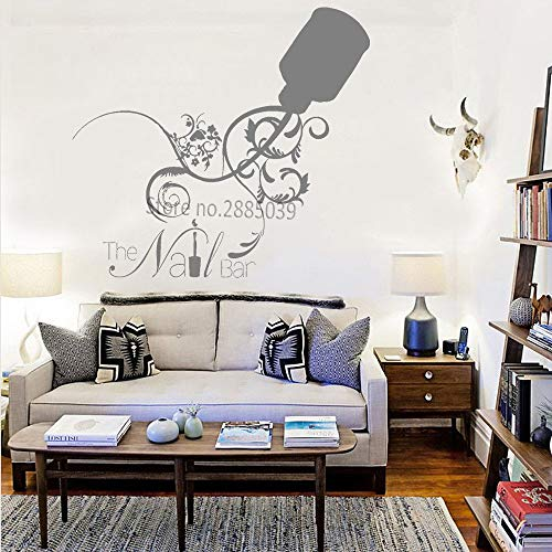 Ajcwhml Neue kreative nagelstudio Logo Applique Fenster Aufkleber Nail Art Studio bar wanddekoration Aufkleber Nagel schönheitssalon Aufkleber 46 cm x 42 cm (Dragon Ball-aufkleber-buch)