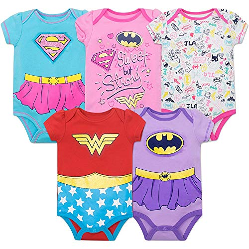 Justice League Baby Girl Coverall 5 - Wonder Woman, Batwoman and Supergirl 18Months (League Babys Justice)