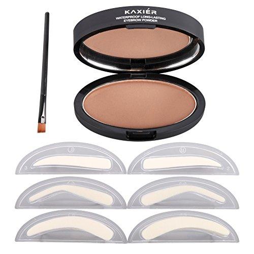 Preisvergleich Produktbild Hanyia Eyebrow Stamp Kit Augenbrauen Pulver Wasserdicht Mit Augenbrauen Schablonen Pinsel Werkzeuge mit 2, 3 Augenbrauen Formen