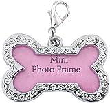 #1: jeewan jeewan tag dog and cat Alphabet Engraved Dog & Cat Collar Charm Alphabet Engraved Dog & Cat Collar Charm (Pink, Bone)